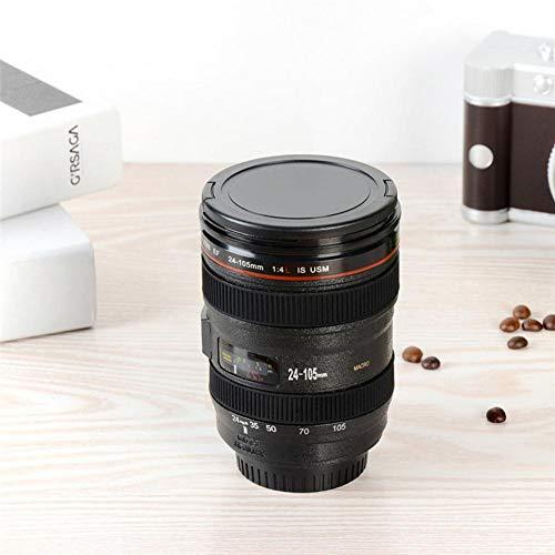 duhe189014 Edelstahl-Vakuum-isolierte Kaffeetasse, einzigartige Kameralinse, Geschenk für Freunde und Verwandte -