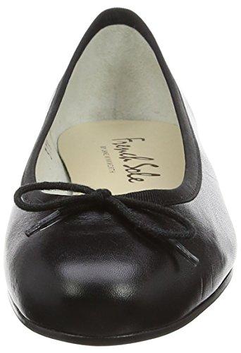 French Sole Henrietta Lether, Ballerine Donna Black (Black)