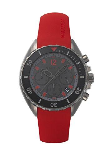 Nautica Men's Chronograph Quartz Watch with Silicone Strap NAPNWP004
