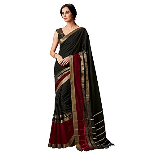 Indian Beauty Art Silk Cotton With Blouse Sarees