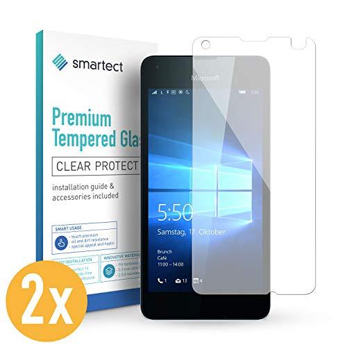 smartect Panzerglas für Microsoft Lumia 550 [2 Stück] - Bildschirmschutz mit 9H Härte - Blasenfreie Schutzfolie - Anti Fingerprint Panzerglasfolie
