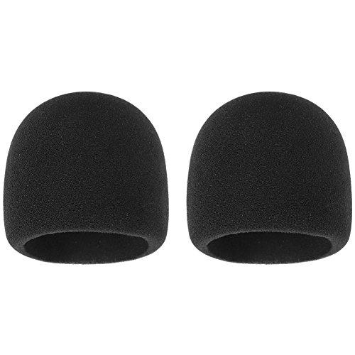 InnoGear Antivento per Microfono, Confezione di 2 Schiuma Copertina di Mic, 64 mm di diametro per Blue Yeti e Yeti Pro, Nero