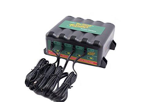 Battery Tender 022-0148-DL-EU Ladegerät Autobatterie, Motorrad Batterieladegerät, 4 Bank, 12V, 1.25A