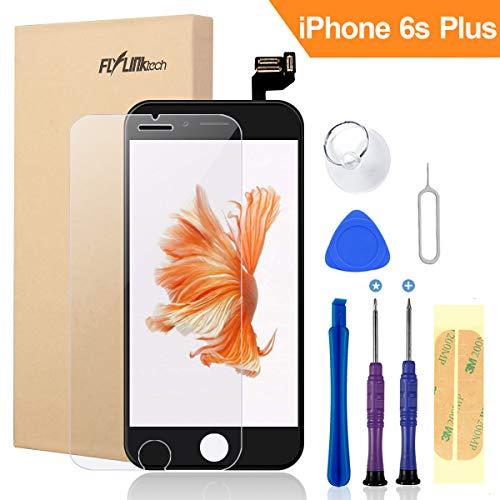 FLYLINKTECH Für iPhone 6s Plus Display Schwarz, LCD 3D Touchscreen Digitizer Assembly mit Werkzeuge und Displayschutzfolie Für iPhone 6s Plus Lcd-schwarz
