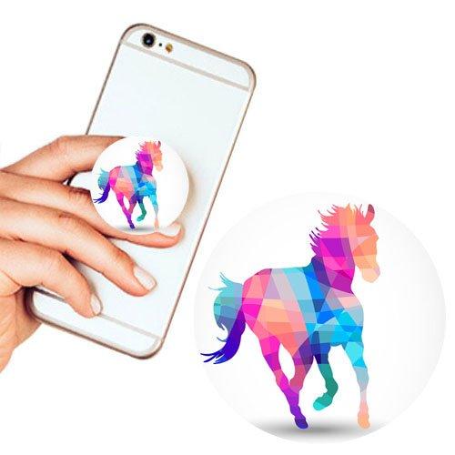 Pop Phone Grip ausziehbarer Ständer Multifunktionaler Smartphone-Halter Universal Telefon Finger hands Socket Halterung - Pferd Tier Farbe(Einhorn) (Billig Ipod 3 Fällen)