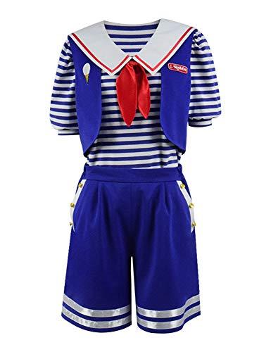 Cosplay Kostüm Robin - IDEALcos Robin Scoops Ahoi Halloween Cosplay Kostüm für Erwachsene (M, Blau)