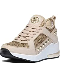 finest selection 5995a 8c782 Amazon.it: Guess - Marrone / Sneaker / Scarpe da donna ...