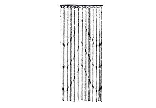 Kobolo Holzperlenvorhang Wood Schwarz 31 Stränge 90x200
