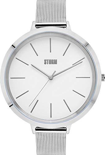 Storm Damen-Armbanduhr Fashion Analog Edelstahl-Armband silber Quarz-Uhr Ziffernblatt silber UST47293/S0