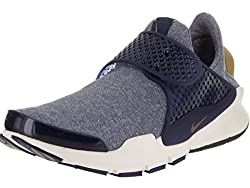 Nike Womens Sock Dart SE Midnight Navy/Golden Beige Running Shoe 9 Women US