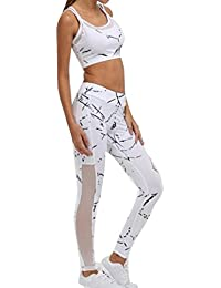 c3a1ab3a8b Juleya Tracksuits Womens Sportswear Yoga Set Sport Bra Sleeveless Vest +  Leggings 2 Piece Fitness Suits Workout…
