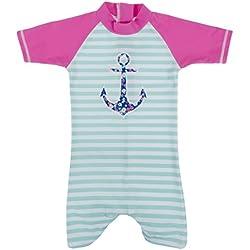Baby Banz Shorty di Natación Termico ANTI-UV Manga Corta Ancla, 3 meses.