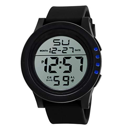 LED-wasserdichte Digital-Quarz-Mode-Uhr-Militärsport-Männer Elektronische Uhr Herren Chenang wasserdichte Armbanduhr mit Wecker Chronograph Schwarz große Anzeige Digitaluhren für Herren