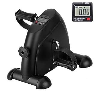 Heimtrainer Mini Bike Arm-und Beintrainer für Büro Hause, Pedaltrainer mit LCD Monitor, Einstellbarer Widerstand für Jungen und Senioren