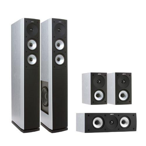 Jamo Studio S 626 HCS - Set de altavoces (5.0, 500 W, cine en casa, 2-way, 80 W, 130 W) Color blanco