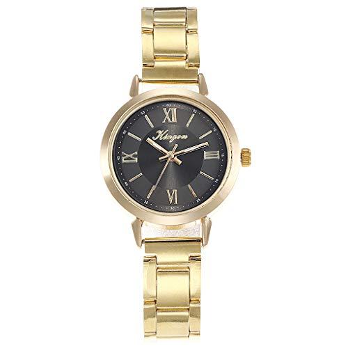 TWISFER Damen Analog Quarz Uhren Römische Ziffern Zifferblatt mit Edelstahl Armband Frauen Kleiden Uhr Beiläufig Mode Uhren Armbanduhr - Uhren Damen Diamanten Ebel