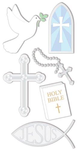"""SandyLion Essentials 3D Motiv-Sticker """"Christliche Symbole"""", (Religion)"""