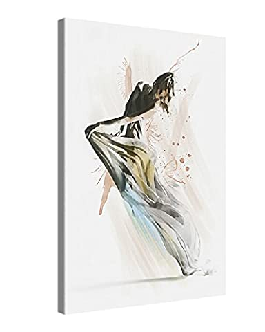 Canvas Print Wall Art – DANCER – 40x60cm Stretched Canvas Framed On A Wooden Frame – Contemporary Art Canvas Printing – Hanging Wall Deco Picture By Gallery Of Innovative Art