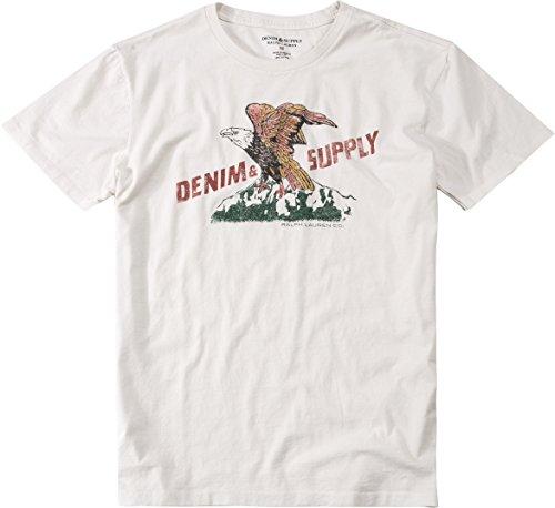 Polo Ralph Lauren Denim&Supply Herren T-Shirt Shortsleeve, Größe: XL, Farbe: Weiß (Ralph Lauren Vintage Jeans)