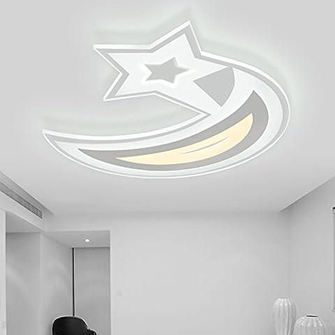 LbcvhStanza dei bambini cartoon LED luci a soffitto camera per bambini Stella Luna lampada da soffitto è di stile ultra-sottile illuminazione led L50*w45cm camera da letto soggiorno
