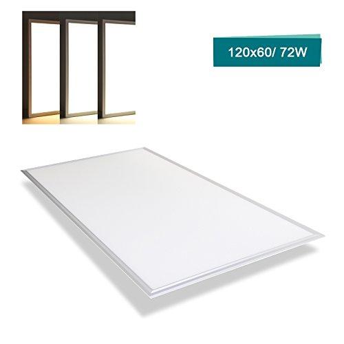 OUBO LED Panel 120x60cm Deckenleuchte Slim 72W 8300 Lumen Tageslicht 6000K, Einbauleuchten Set 230V, Wandleuchte, inkl. Netzteil Mega-panel