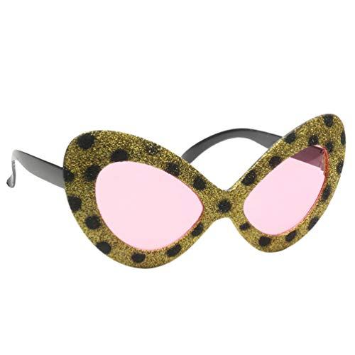 Halloween Kostüm Zeitraum - Happyyami lustige Party Sonnenbrille Leopard Party Brillen Halloween Cosplay Kostüm Brillen Selfie Foto Requisiten