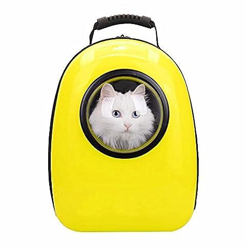 Sac pour animaux de poche sac à dos sac PET sac à main sortir double épaule sac chat espace cabine Teddy chiot chien Doggy Pack Cat cage, jaune