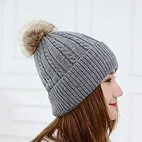 0c9c9fc9bb001 HAOLIEQUAN Gorros Sombreros De Invierno De Punto para Mujer Gorros Blandos  Cálido Gorro De Invierno Beanie