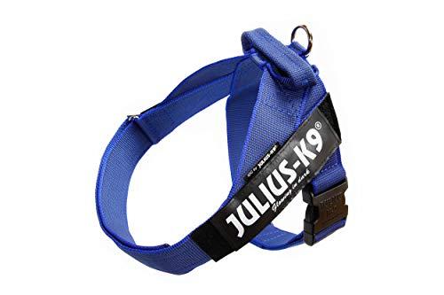 JULIUS-K9, 16503-IDC-B-15, Color&Gray IDC-Gurtbandgeschirr, Größe 3, blau-grau