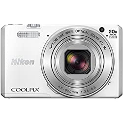 """Nikon Coolpix S7000 Appareil photo numérique compact 16 Mpix Écran LCD 3"""" Zoom optique 20X Blanc"""