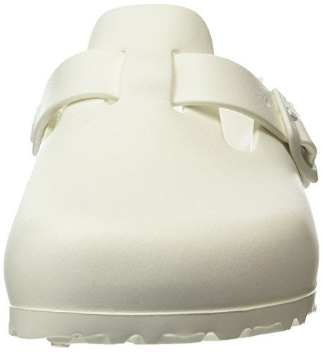 Birkenstock Damen Boston Eva White Clogs Weiß (White)