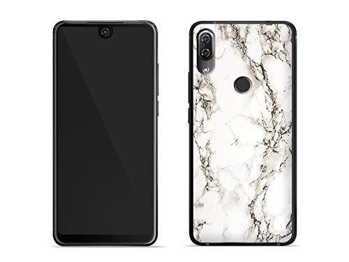 etuo Handyhülle für Wiko View 2 Pro - Hülle Fantastic Case - Weißer Marmor - Handyhülle Schutzhülle Etui Case Cover Tasche für Handy