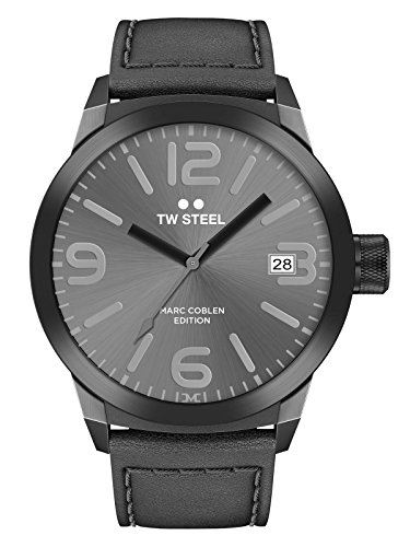 TW Steel Marc Coblen Edition mit Lederband 45 MM Grey Sunray/Black TWMC28