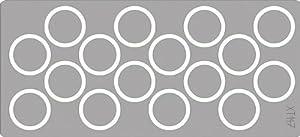 Eduard Accessories XT147 - Juego de construcción de maqueta de Hetzer Wheel Masks para Tamiya