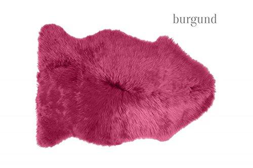 Island-Lammfell Fellteppich l Pink Burgund l 90-100cm l Langwollig - Lammfell Teppich für Schlafzimmer und Wohnzimmer - Baby Lammfell l Baby Lammfell Kinderwagen Teppiche Burgund