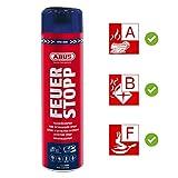 ABUS Feuerlöschspray AFS625 Feuerstopp - Feuerlöscher für Küche, Grill und Haushalt - hohe Sprühweite - Brandklassen A-B-F rot - 85727