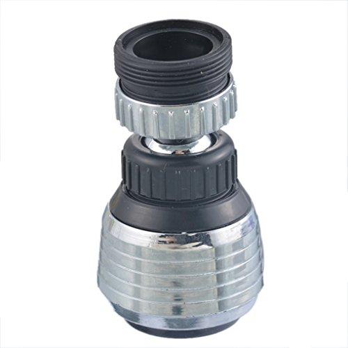 Lifemaison Wasserfilter Wasserhahn Adapter Düse Filter Adapter 360° Drehen Swivel Dual Spray 2 Flow Wassersparhahn Belüfter Küche Waschbecken mit Außengewinde (Swivel Spray)