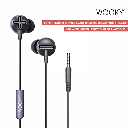 WOOKY® Beatz-Basic In-Ear Headphones with Mic