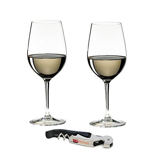 Riedel Vinum Leaded Crystal Riesling Grand Cru/Zinfandel Glass set per vino 2pezzi con bonus Bigkitchen cavatappi da sommelier
