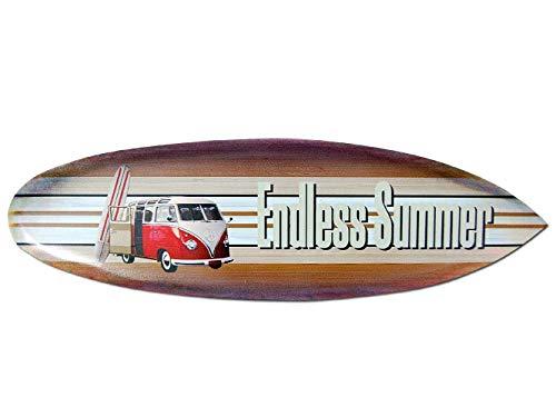 Seestern Sportswear Deko Holz Surfboard 50,80 oder 100 cm Airbrush Design Surfing Surfen Wellenreiten Surf /FBA_1854 50 cm