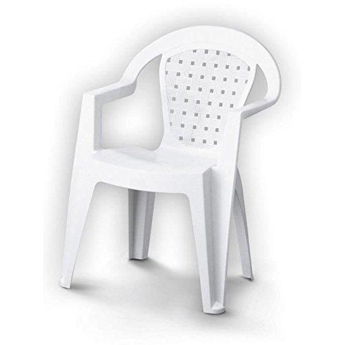 L&M Chaise de Jardin Norma en Plastique (résine) Blanc