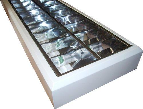 EVG Anbauleuchte Spiegelraster Leuchtstofflampe 2x 36 Watt Büro PC-Arbeitsplatz