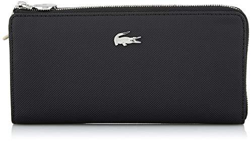 Französisch Geldbörse Damen Brieftasche (Lacoste Damen Daily Classic Geldbörse, Schwarz (Black), 3x9.5x19 Centimeters)