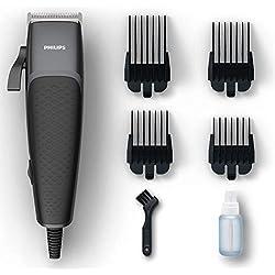 Philips Tagliacapelli HC3100 Pro Clipper Tagliacapelli e Regolabarba con Motore Lineare e Lame Tip2Tip 100% Inox, 4 Pettini da 0.5-12 mm, Cavo da 240 cm