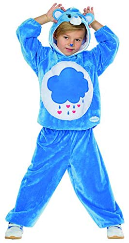 Rubie's Kinder Kostüm Brummbärchi Gr. 104-140 blau Glücksbärchis Fasching Karneval (116) (Rot Glücksbärchi Kostüm)