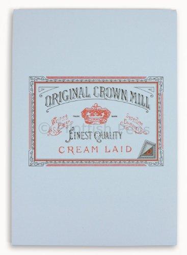 Original crown mill - blocco di carta pergamena liscia, a5, 50 fogli, colore: blu