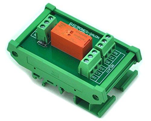 Electronics-Salon Rail DIN/support Passif bi se verrouiller DPDT 8A Module de relais de puissance : 5 V, Version