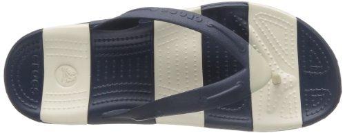 crocs BeachLineFlip Unisex-Erwachsene Zehentrenner Blau (Navy/Stucco)