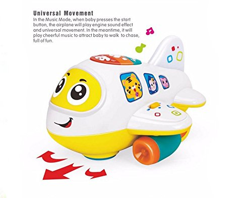 My First Airplane 12 Month + Baby Toy Intelligence Airplane Toy Music/Light/Sound for Children & Kids Boys and Girls 3