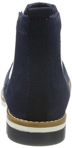 s.Oliver 25335, Stivali Chelsea Donna Blu (Navy)